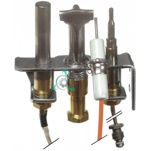 Горелка Robertshaw 4SHR-44 код 11 3-х пламенная сжиженный газ 1/4 CCT 535710080 600921 для FALCON и др.