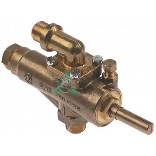 """Кран газовый GAI (3/8"""" M9x1/M10x1 ось 10x8x36/15мм)"""