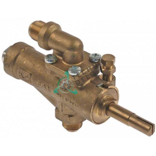 """Кран газовый GAI (3/8"""" M9x1/M10x1 ось 8x6,5x35/12мм)"""