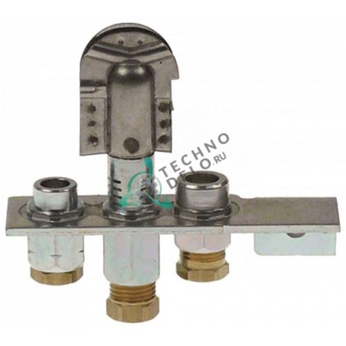 Горелка Polidoro 29-2 3-х пламенная природный газ тип дюзы 29.2 подключение 6мм 537883019 R3211 для Falcon и др.