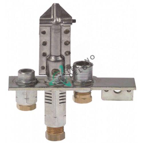Горелка Polidoro 29.2 3-х пламенная природный газ подключение 6мм 53552000 R5066 плиты Falcon G2131-OT/G2151-OT и др.