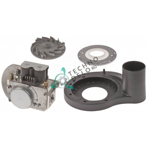 Клапан (вентиль) газовый Dungs GB-WND 055 D01 S02 243442 230В 1/2 длина 105мм 7000029 для Fagor, Rational CM101 и др.
