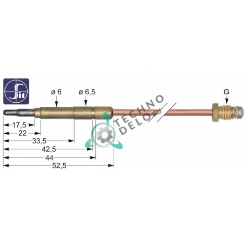 Термопара SIT M9x1 L-500мм гнездовой наконечник ø 6,0 (6,5) мм
