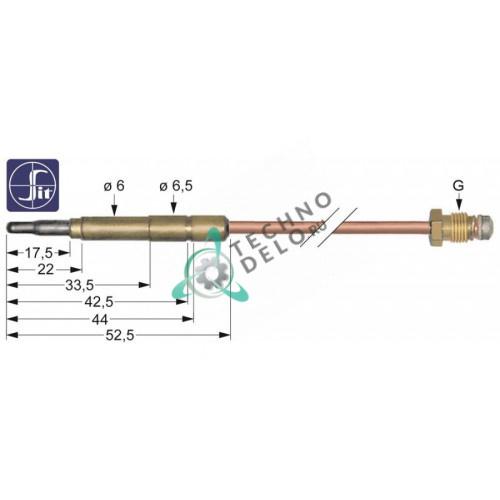 Термопара SIT 0.200.009 M9x1 L-600мм наконечник ø6мм 22289200 00118 для Angelo Po, Bertos, Electrolux и др.