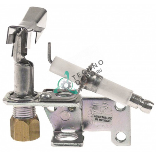 Горелка конфорки Robertshaw 6SW1421E код 16 3-х пламенная жидкий газ 1/4 CCT 60130902 для фритюрницы Pitco
