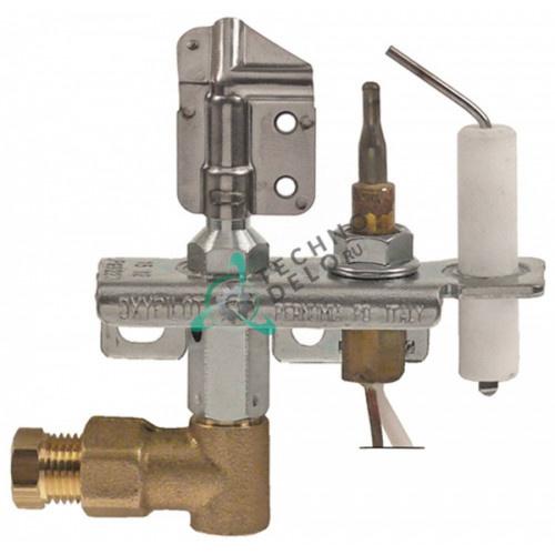 Горелка SIT тип Oxipilot 9000 2-х пламенная сжиженный газ дюза Nr.22 ø0.2мм для кухонного теплового оборудования