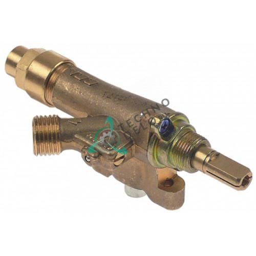 Кран газовый ECA ø21мм выход 1/4 (трубка-ø8 мм) M8x1 дюза 0,55мм 62670000503 для мармита и плиты Öztiryakiler