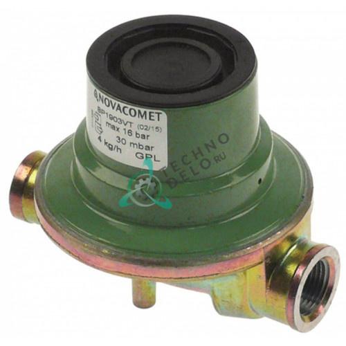 """Регулятор давления Novacomet BP1903VT 1/4"""" - 3/8"""" сжиженный газ макс. 16 бар выход 30 мбар"""