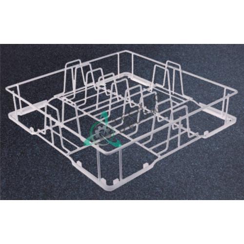 Кассета 370x370x100мм для тарелок ø250мм 00C03 посудомоечной машины Dihr, Kromo и др.