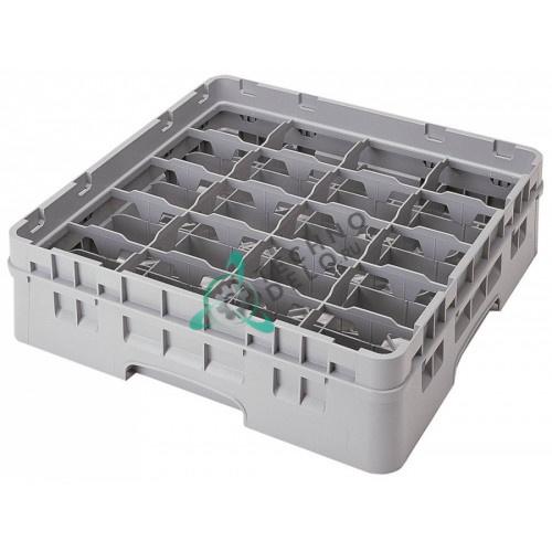Кассета Cambro 500x500x143мм 20 чашек ячейки 111x87мм применяется для посудомоечных профессиональных машин