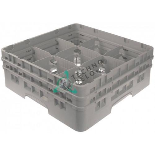 Кассета Cambro 500x500x183 размер ячейки 150x150мм для мытья стаканов применяется в посудомоечном оборудовании