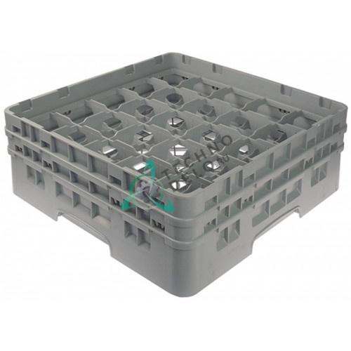 Кассета Cambro 500x500x183 размер ячейки 89x89мм для мытья стаканов используется в посудомоечном оборудовании