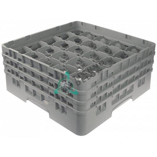 Кассета Cambro 500x500x224мм пластик ячейки 89x89мм 25 стаканов для профессиональных посудомоечных машин
