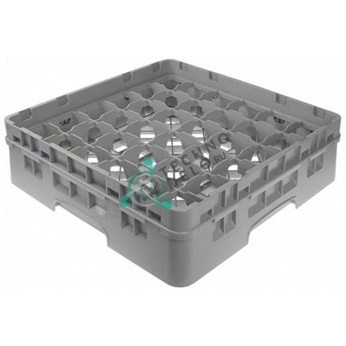 Кассета Cambro 500x500x142мм пластик ячейки 73x73мм 36 стаканов для профессиональных посудомоечных машин