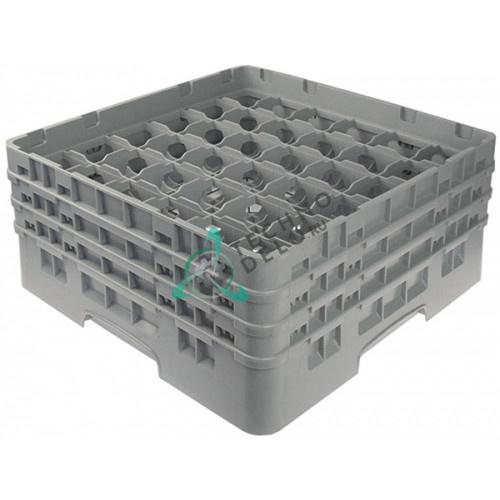 Кассета Cambro 500x500x224 размер ячейки 73x73мм для 36-ти стаканов применяется в посудомоечном оборудовании