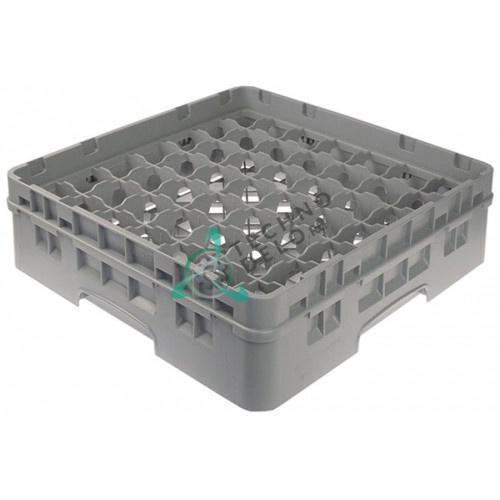 Кассета Cambro 500x500x142 ячейки 62x62мм 49 стаканов применяется для посудомоечных профессиональных машин