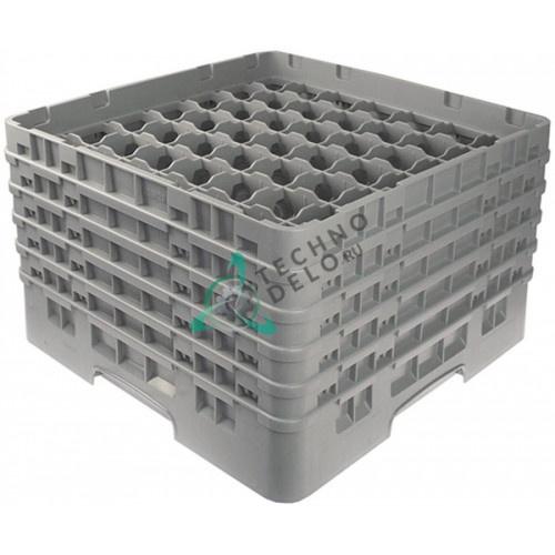 Кассета Cambro 500x500x306 ячейки 62x62мм 49 стаканов используется для посудомоечных профессиональных машин
