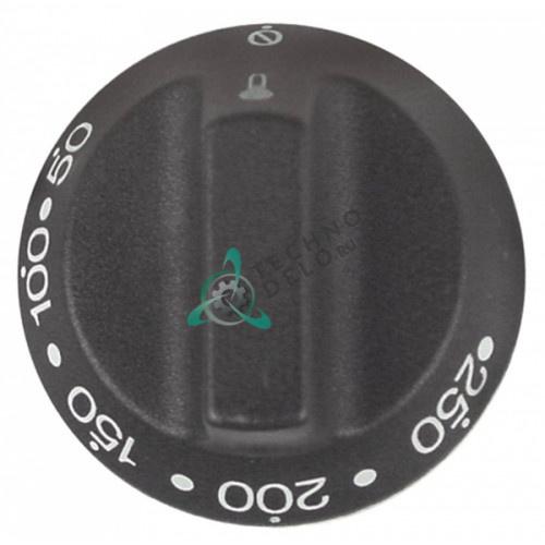 Рукоятка термостата регулировочная 50-250°C D-55мм ось 6x4,6мм 25801 764971891 для SMEG ALFA100X и др.
