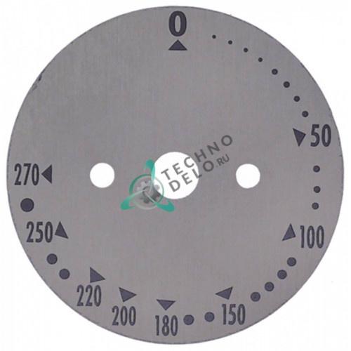 Шкала круглая термостата 0-270°C ø65 DIS003 DIS006 DIS09 DIS65 печи Garbin
