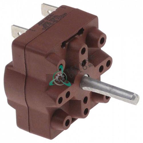 Переключатель Gottak 250В 16А ось 6x4мм для кофемолки Santos (арт. 06612)