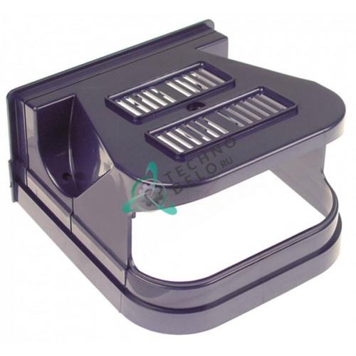 Крышка передняя голубая F001BM(SF) дозатора охлажденных напитков и гранитора CAB Faby 1-3, Fast Cold 1-3 и др.