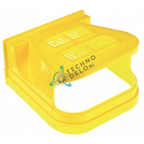 Крышка передняя желтая F001/Y(SF) дозатора охлажденных напитков и гранитора CAB Faby 1-3, Fast Cold 1-3 и др.