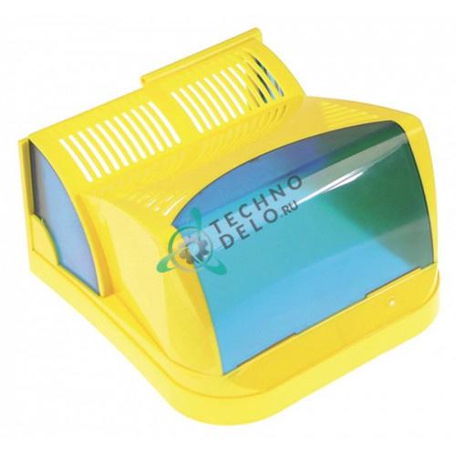 Крышка передняя желтая F001/GB дозатора охлажденных напитков и гранитора CAB New Faby 1-3, Fast Cold 1-3 и др.