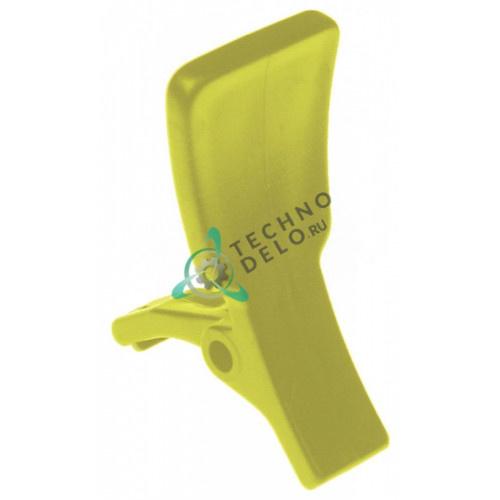 Рычаг желтый пластмассовый для дозирующего крана охладителя напитков (гранитора) CAB FABY 1/FABY 2/FABY 3