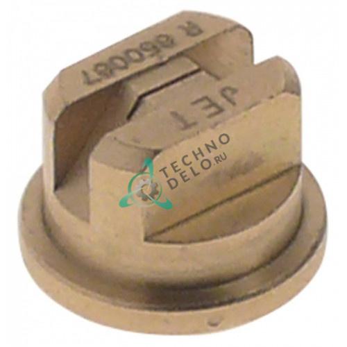 Сопло впрыскивающее ø12.5/ø15мм L-10мм латунь 053800 53800 для пароконвекционной печи Electrolux COCO10E и др.