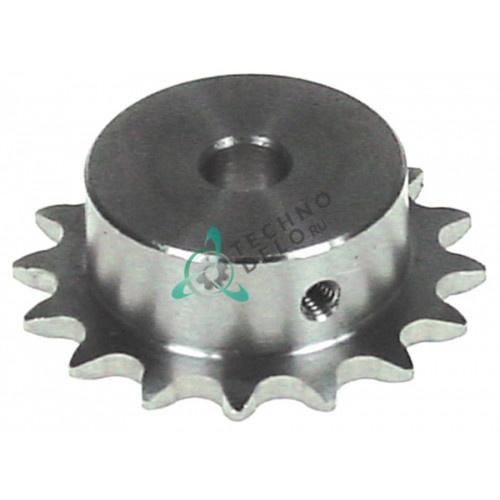 Звездочка цепная DIN/ISO 05 B-1 зубьев 16 для роликового гриля CB