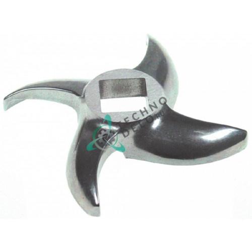 Нож мясорубки mod. 42 Enterprise Ø по окружности 120мм / внутр. размер 22x22мм нержавеющая сталь