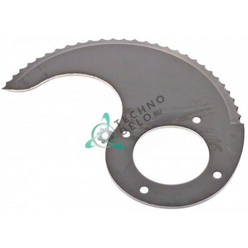 Нож нижний с зубцами MSC09V072Z L112мм ø42мм куттера Sirman С9