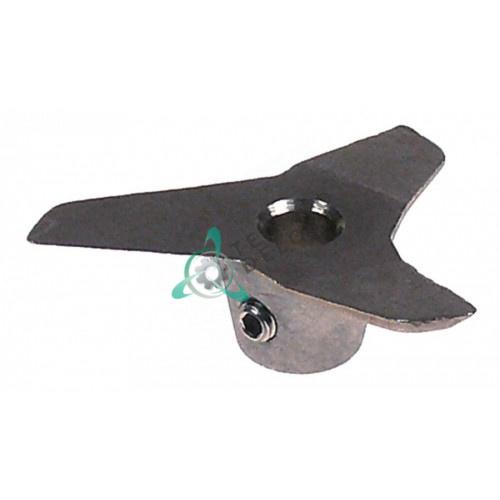 Нож три лопасти SL0744 ø60мм/ø8мм H22мм для ручного блендера Fimar FM3/MX40/FX40/FX42