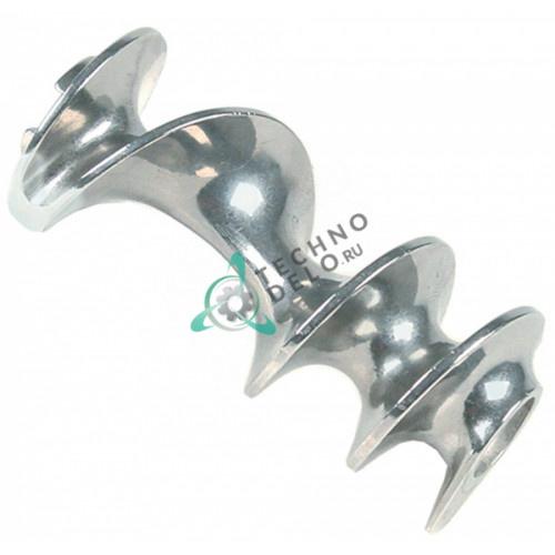 Шнек mod. 32 ø74мм L-165мм LF2038610 из нержавеющей стали для промышленной мясорубки Sirman TC32FR, TC32RIO и др.