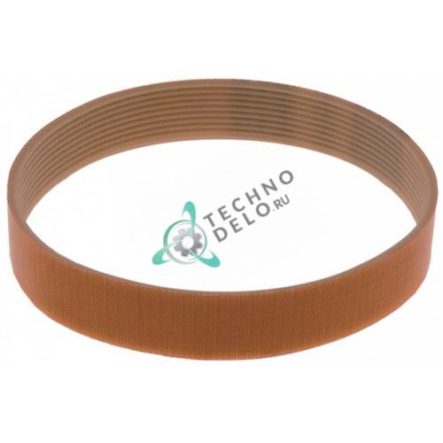 Ремень поликлиновой TB2.34 6 бороздок 14мм L-432мм RG04248 PL100/32 картофелечистки Sirman PP4 и др.