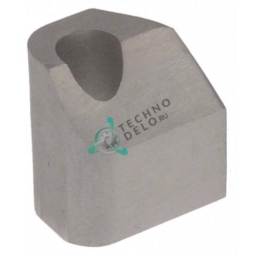 Крепление оси для ручки фиксации продукта 19526060 для слайсера Sirman Canova, Mirra 300 и др.
