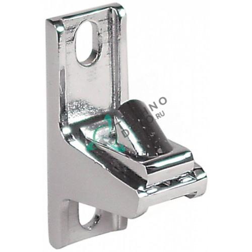 Щеколда замка 58x20x35мм хромированная латунь для холодильного и теплового оборудования