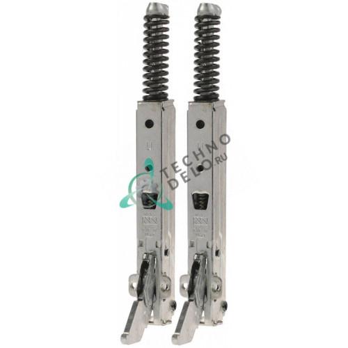 Петли в комплекте KCR1025 KCR012 шаг крепления 82мм L-155мм для двери конвекционной печи Unox Rosella XF 190/193/195