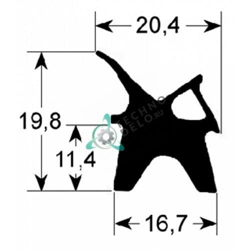 Уплотнитель 353x405мм профиль 2410 LAR70041350 / 50505953 пароконвектомата Lainox FV03