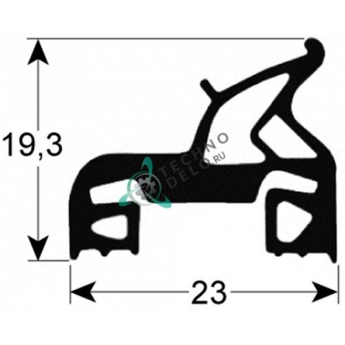 Уплотнение двери 005713 430-635мм для пароконвекционной печи Zanussi/Electrolux и др.