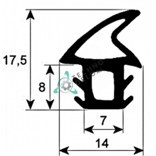 Уплотнитель двери 2160 мм 754131089 Smeg Alfa200/201