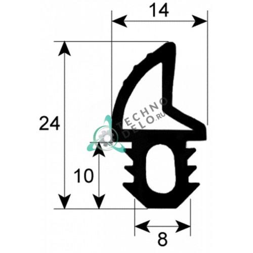 Уплотнитель двери 24x14 mm GUA30002 KGA00002 для печей Piron, Apach A6/8/9/4U и др.