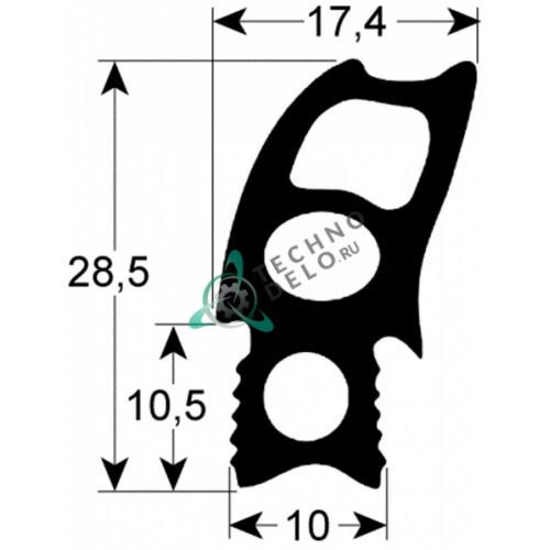 Уплотнитель 2731 470x500мм OSE08  RT2000394 двери печи Lincat, Fagor и др.