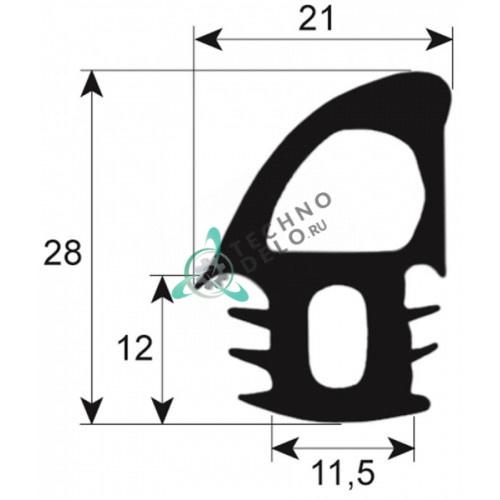 Уплотнитель двери (L2200мм профиль 2695) 188024.01 189016.01 печи MIWE