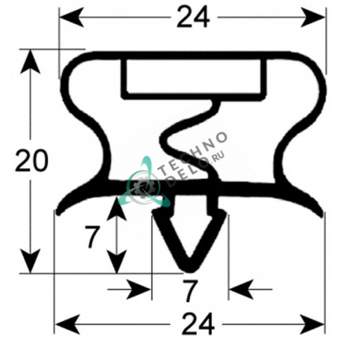 Уплотнитель 477x503мм 089689 профиль 9195 для шоковой заморозки Zanussi AOCP061, AOFP061 и др.