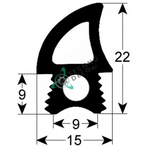 Уплотнитель двери 01000070 (L - 1760 мм) для пароконвекционной печи Tecnoeka EKF 523 E UD