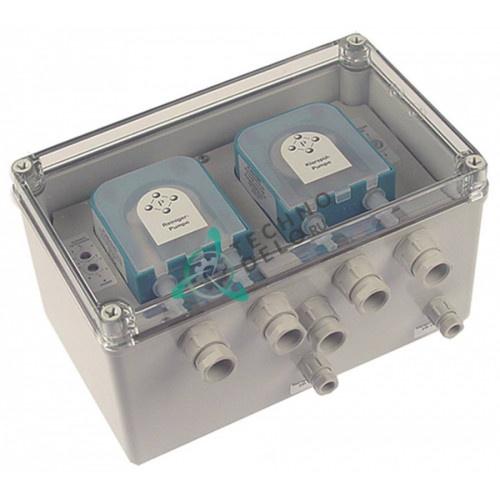 Дозатор двойной PLAS-CONT DU02T6.15 230VAC IP65 моющее средство/ополаскиватель