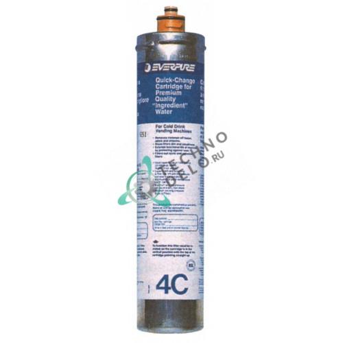 Фильтр водяной Everpure 4C EV960100 114 л/ч D-80мм H-370мм 0,5 мкм под тип головки QL2/QL3 очистка активированным углём