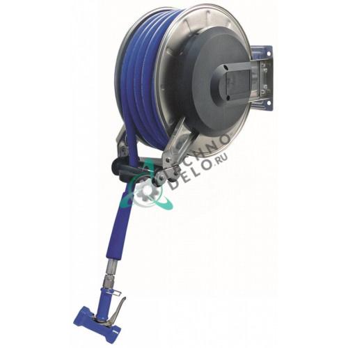 Катушка для шланга ручного душа в комплекте L-15м 1/2″ DN13мм CNS настенный монтаж