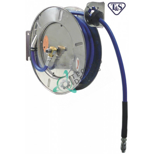"""Катушка моющего шланга T&S EU-7133 L-10м 1/2"""" DN12мм CNS настенный монтаж тип Exklusiv"""